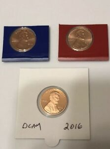2016 S P D LINCOLN SHIELD CENTS LOW MINTAGE
