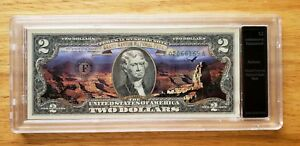 U.S. $2 GRAND CANYON NATIONAL PARK BILL AUTHENTICATED UNCIRCULATED IN HOLDER