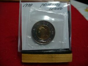 Click now to see the BUY IT NOW Price! 1998  CANADA 2$ TWO  DOLLAR  COIN  TOONIE  SEE PHOTOS  98  PROOF LIKE  SEALED