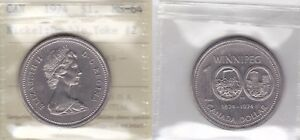 Click now to see the BUY IT NOW Price! 1974 ICCS MS64 $1 DOUBLE YOKE  DY VCR  2 REV 003 CANADA ONE DOLLAR NICKEL