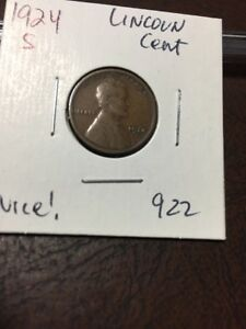 1924 S LINCOLN CENT NICE  922