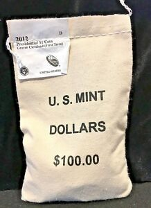 Click now to see the BUY IT NOW Price! 2012   D $100 U.S. MINT SEWN BAG PRESIDENTIAL DOLLARS GROVER CLEVELAND 1ST TERM