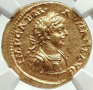 Click now to see the BUY IT NOW Price! CARACALLA 198 AD NGC CHOICE MS  5/5;5/5 FINE STYLE.GOLD AUREUS EX EGGER 1904