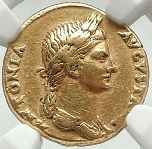 Click now to see the BUY IT NOW Price! ANTONIA MOTHER OF CLAUDIUS 41AD GOLD AUREUS NGC CH VF EX O'HAGAN COLLECTION 1908