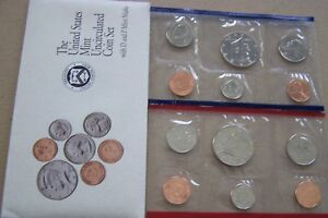 1992 UNCIRCULATED US MINT SET  10 COINS