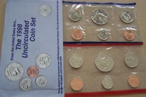 1998 UNCIRCULATED US MINT SET  10 COINS