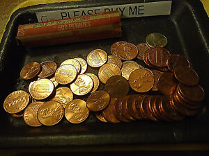 2008 P RED CIRCS ROLL OF CENTS            >> WE COMBINE SHIPPING <<