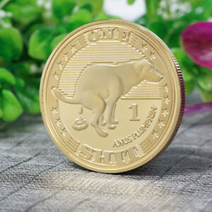 LUNAR NEW YEAR DOG COMMEMORATIVE COIN SOUVENIR COLLECTION GIFTS CRAFTS 2018
