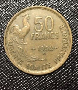 FRENCH 50 FRANC COIN 1952