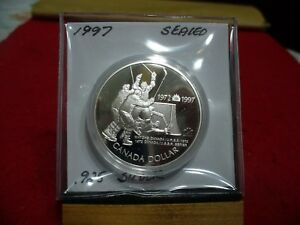 Click now to see the BUY IT NOW Price! 1997  CANADA  SILVER DOLLAR  COIN   HIGH   GRADE   97    .925  SILVER  SEALED