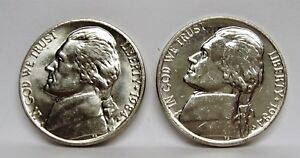 1984P & D JEFFERSON NICKEL SET   PULLED FROM OBWROLLS