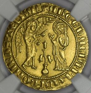 Click now to see the BUY IT NOW Price! ITALIAN STATES  NAPLES  COIN SALUTO D'ORO CARLO I D'ANGIO  1266 1282.  NGC
