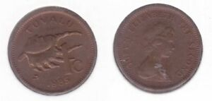 TUVALU  1 CENT COIN 1985 YEAR KM1 SHELL