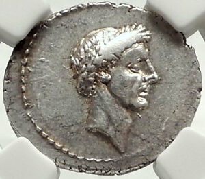 Click now to see the BUY IT NOW Price! JULIUS CAESAR PORTRAIT 41BC AUTHENTIC SILVER ROMAN COIN NGC CERTIFIED: CHOICE AU