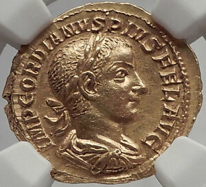 Click now to see the BUY IT NOW Price! GORDIAN III 241AD GOLD AUREUS SOL W.ORB AUTHENTIC ANCIENT ROMAN CERTIFIED NGC MS