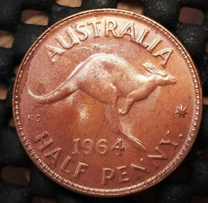 1964Y AUSTRALIA HALF PENNY EX   MINT ROLL IN UNCIRCULATED CONDITION   14
