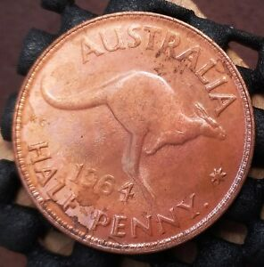 1964Y AUSTRALIA HALF PENNY EX   MINT ROLL IN UNCIRCULATED CONDITION   8