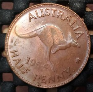 1964Y AUSTRALIA HALF PENNY EX   MINT ROLL IN UNCIRCULATED CONDITION   17