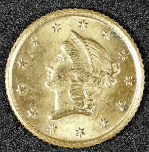 1853 TYPE 1 $1 LIBERTY GOLD COIN   NICE AU CONDITION COIN GREAT TYPE COIN