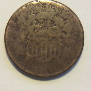1865 TWO CENT PIECE  H686