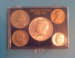 1972  YEAR MINT SET CIRCULATED 5 COINS