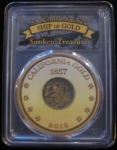 SS CENTRAL AMERICA RECOVERY GOLD DUST 49ER GOLD PCGS CERTIFIED