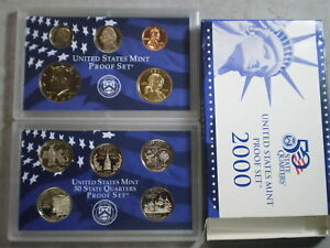 2000 UNITED STATES PROOF SET IN ORIGINAL BOX/ GREAT STOCKING STUFFER