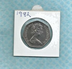 1982 ROYAL MINT PROOF 50 PENCE COIN