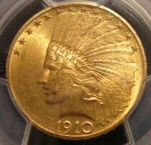 1910 GOLD INDIAN 10$ PCGS MS 64