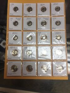 20 MIXED DATE ROOSEVELT DIME PROOFS