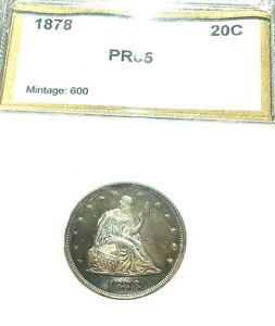 Click now to see the BUY IT NOW Price! 1878 U.S. SILVER 20 CENT PIECE SCANT MINTAGE 600