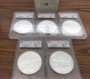 Click now to see the BUY IT NOW Price! 2010 P MERCANTI SP70 PCGS 5 OZ SILVER ATB SET  ALL 5 COINS