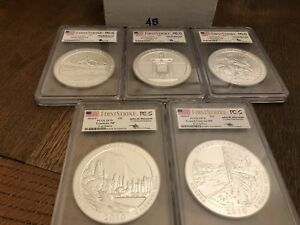 Click now to see the BUY IT NOW Price! 2010 P MERCANTI SP70 FIRST STRIKE PCGS 5 OZ SILVER ATB SET  ALL 5 COINS