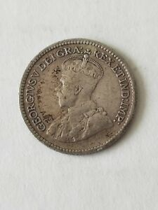1920 CANADA 5 CENTS SILVER NICKEL GEORGE V