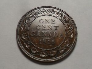 1916 NICE CANADA BRONZE ONE CENT MINTAGE 11 022 367