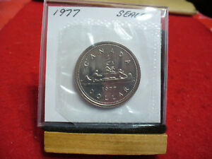1977  CANADA  NICKEL  DOLLAR  COIN   TOP GRADE    77  PROOF LIKE  SEALED