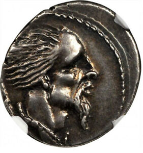 Click now to see the BUY IT NOW Price! VERCINGETORIX ENEMY OF JULIUS CAESAR 48BC SILVER ROMAN REPUBLIC COIN NGC CH XF