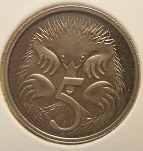 1997 5 CENT PROOF COIN REMOVED FROM PROOF SET
