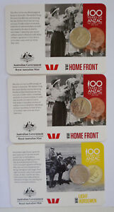 100 YEARS OF ANZAC AUSTRALIAN 3 COINS COLLECTION