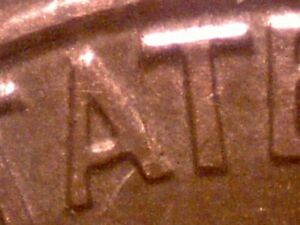 1994 BISECTING RIM TO RIM DIE CRACKED LINCOLN CENT EC679