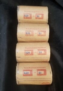 Click now to see the BUY IT NOW Price! 80 MORGAN & PEACE SILVER DOLLARS IN 4 STEEL STRONG SHOTGUN COVERED END ROLLS