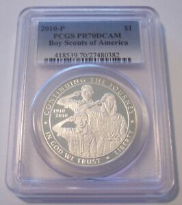 Click now to see the BUY IT NOW Price! 2010 P BOY SCOUTS COMMEMORATIVE SILVER DOLLAR PROOF PR70 DCAM PCGS