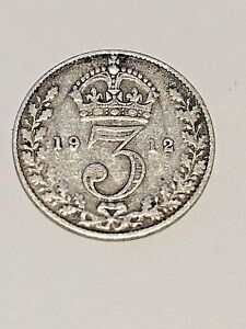 1912 MAUNDY G. BRITAIN 3 PENCE