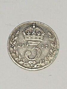1917 MAUNDY G. BRITAIN 3 PENCE