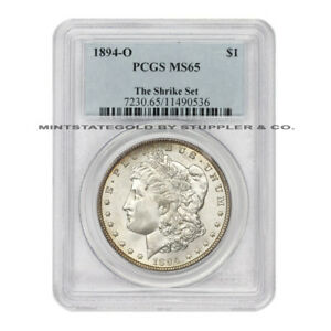 Click now to see the BUY IT NOW Price!  HIGH END 1894 O $1 MORGAN SILVER DOLLAR PCGS MS65 GEM NEW ORLEANS COIN
