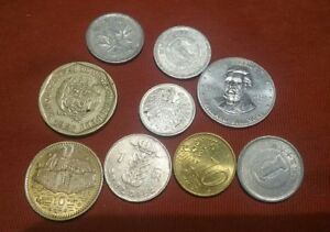 LOT OF 9 MISC. FOREIGN COINS TOKEN