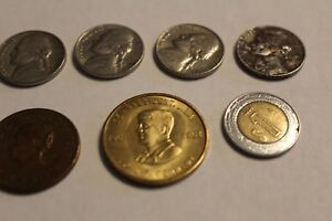 LOT OF 7 OLD COINS