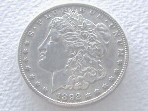 1892 S MORGAN SILVER DOLLAR  DETAILS    IN THIS CONDITION  2 26 K