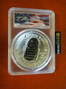 2019 P 5 OUNCE PROOF SILVER APOLLO 11 DOLLAR PCGS PR70 FLAG CLEVELAND FS 19CH