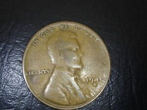 1946 S LINCOLN WHEAT CENT PENNY   ERROR   WEAK STAMP
